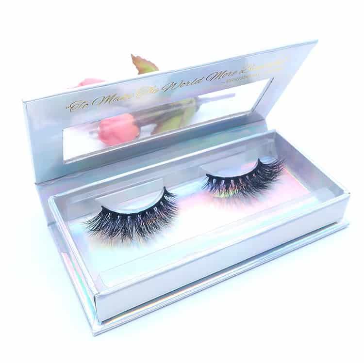 custom eyelash packaging for 3d mink lashes