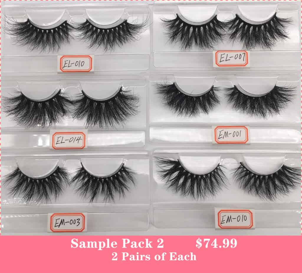 wholesale eyelashes samples