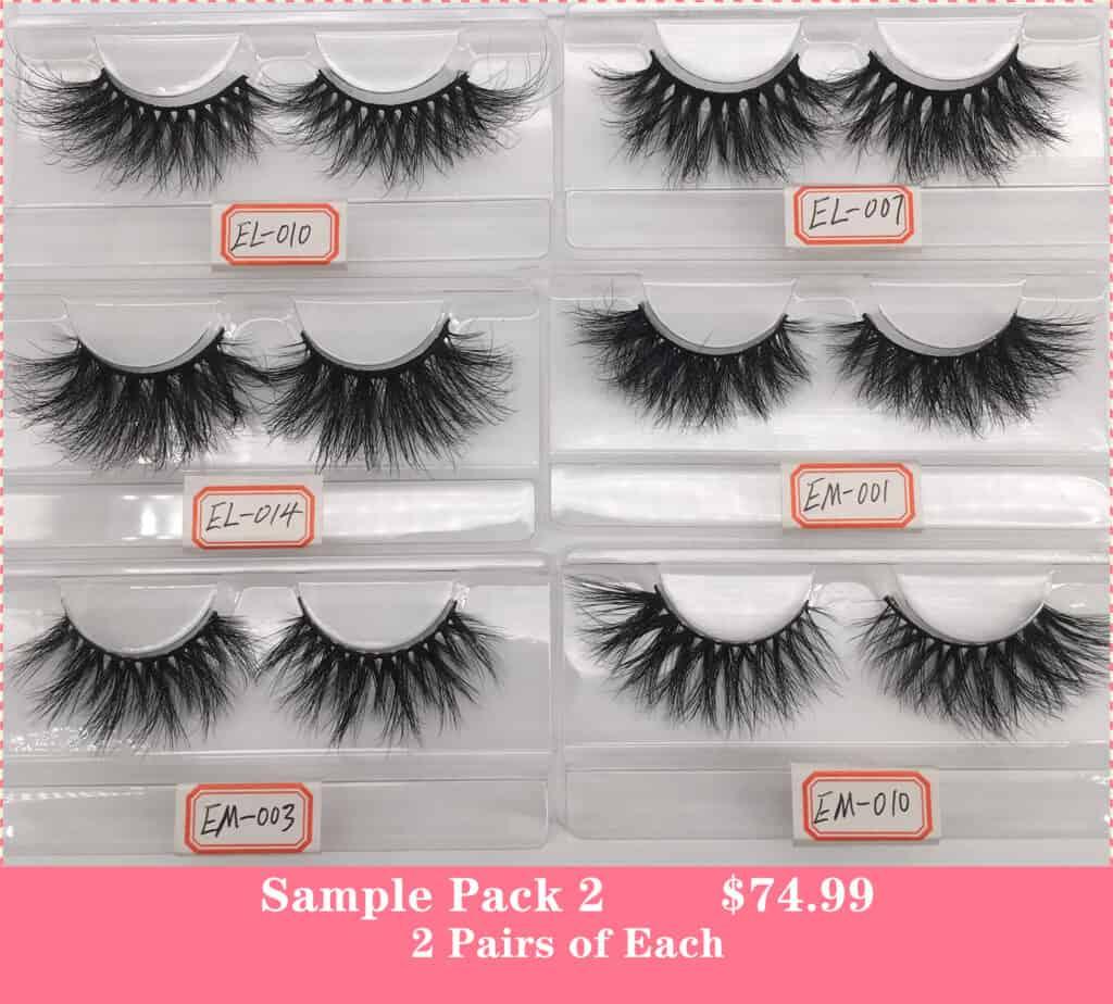 wholesale eyelashes samples