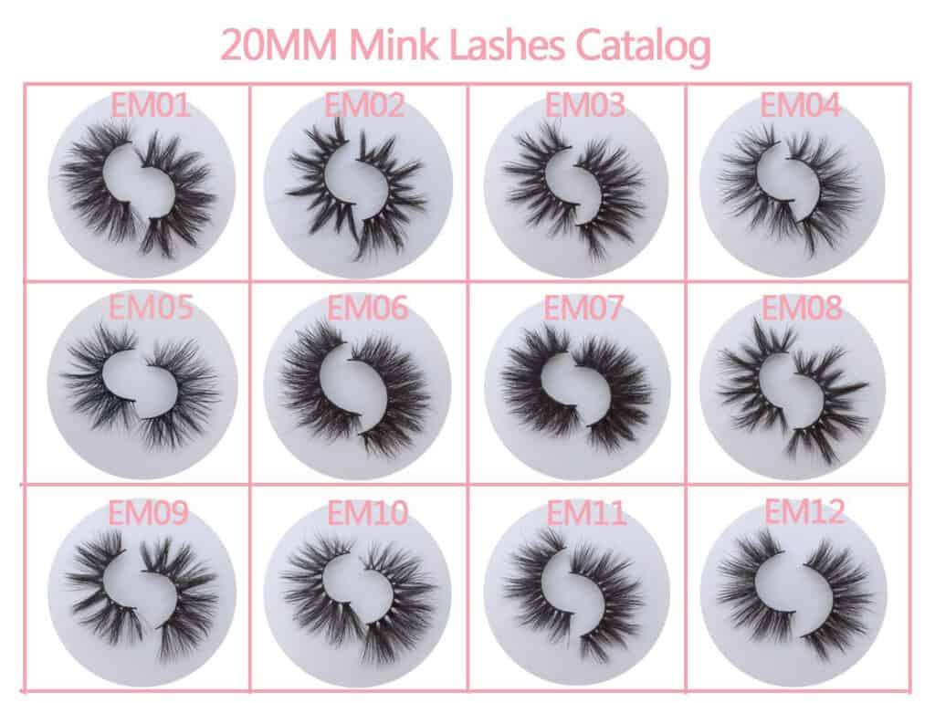 20mm strip mink eyelashes wholesale vendors
