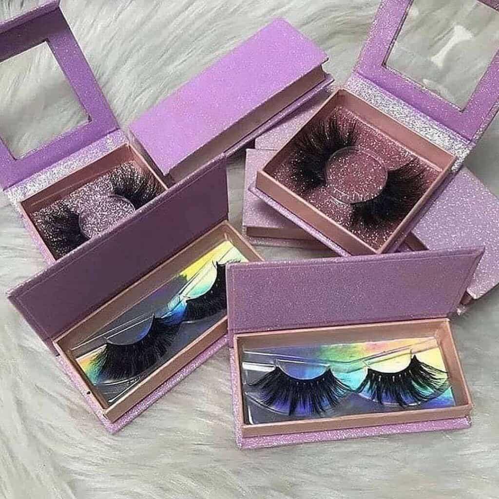 custom eyelash boxes and lashes wholesale