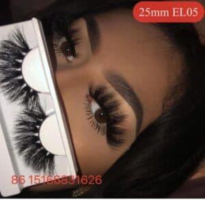 wear 20mm mink strip lashes