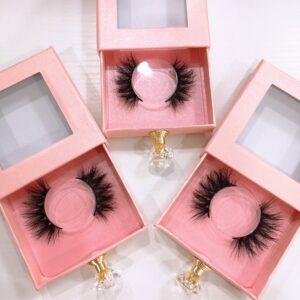 Plain Pink Lash Packaging for Mink Eyelashes