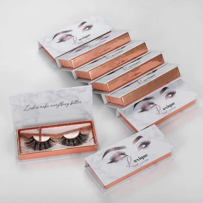Custom Lash Packaging Boxes Diy Mink Eyelashes