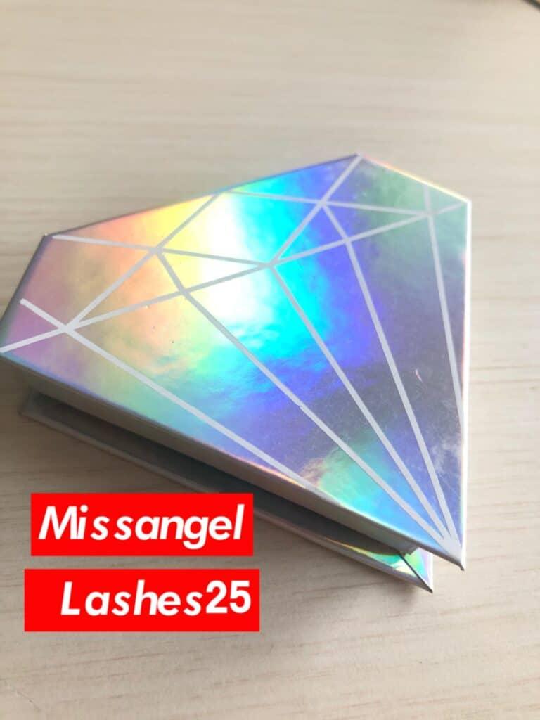 holographic diamond eyelash packaging