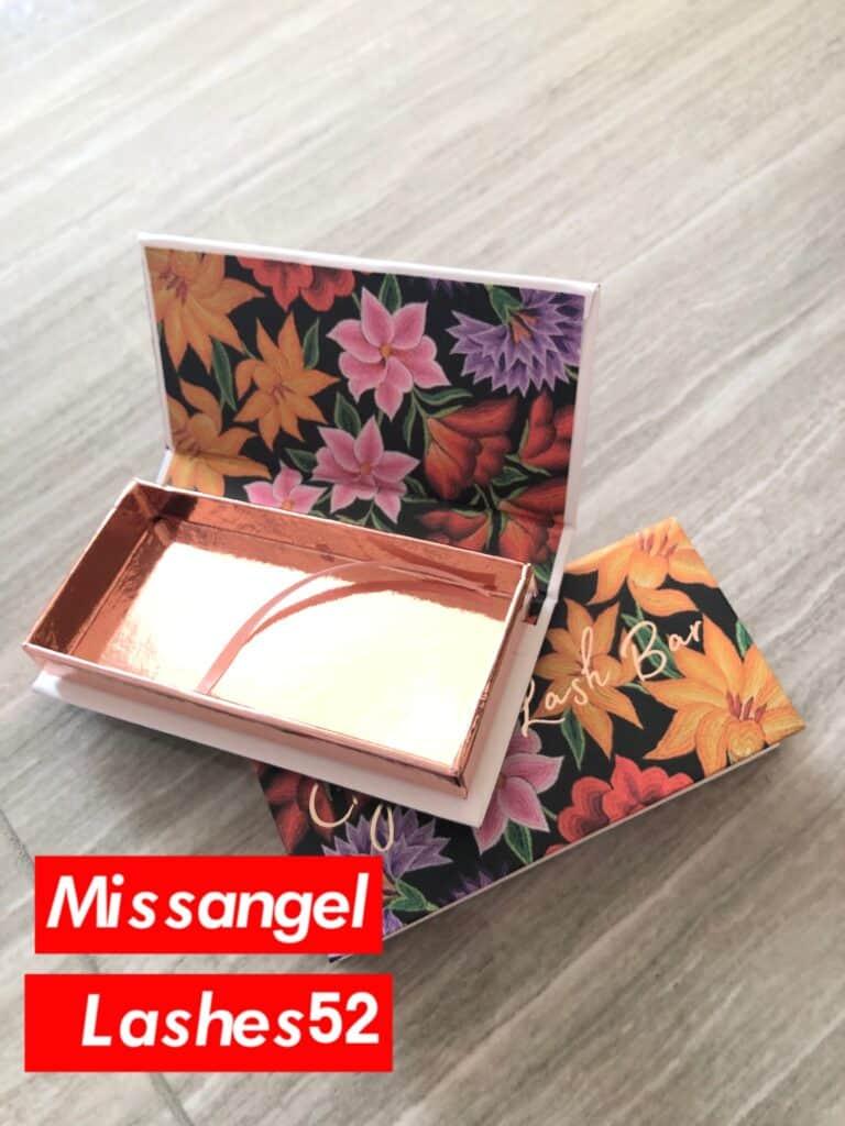 Flower Custom Eyelash Packaging Boxes