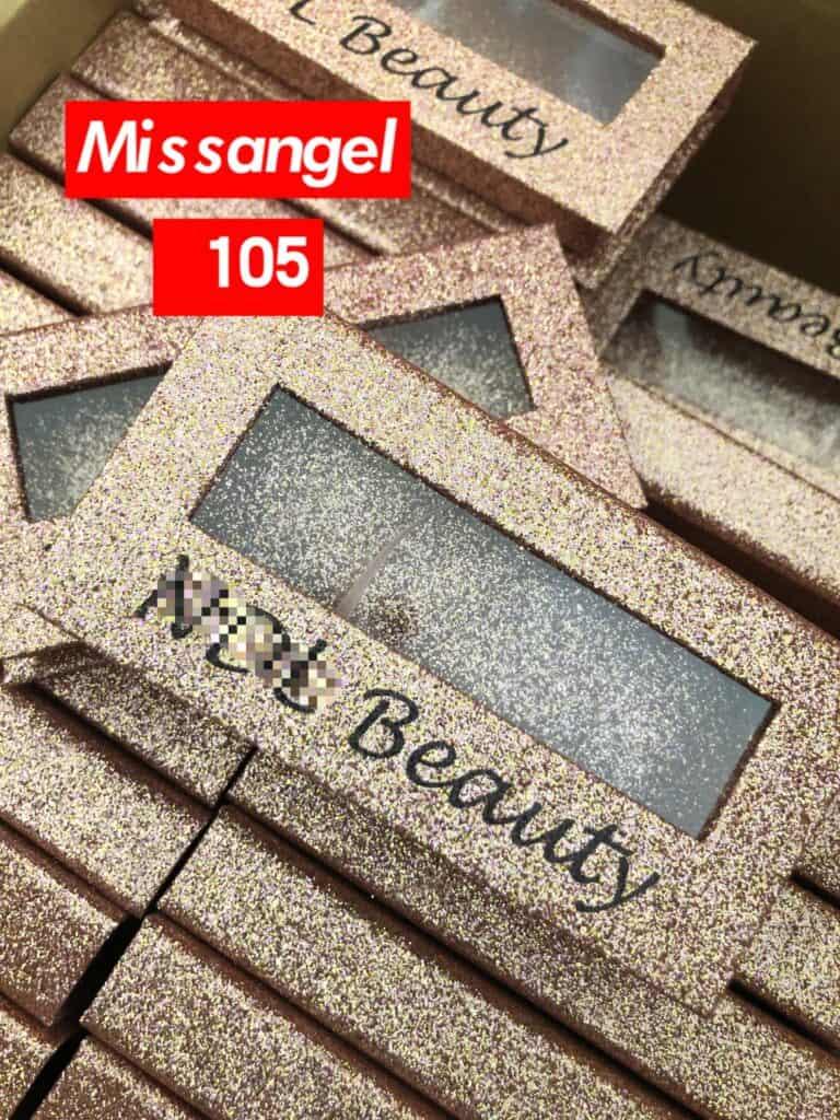 Rose Gold Glitter Eyelash Packaging