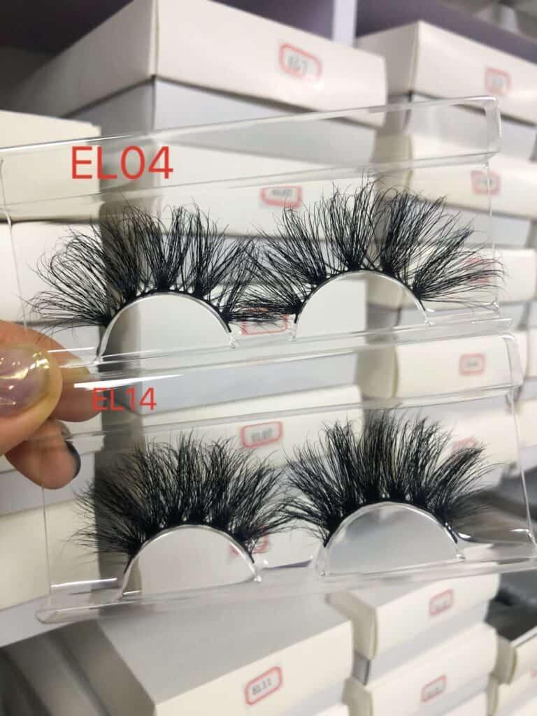 fluffy 25mm Siberian eyelashes