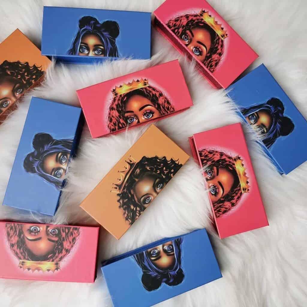 custom mink eyelash boxes