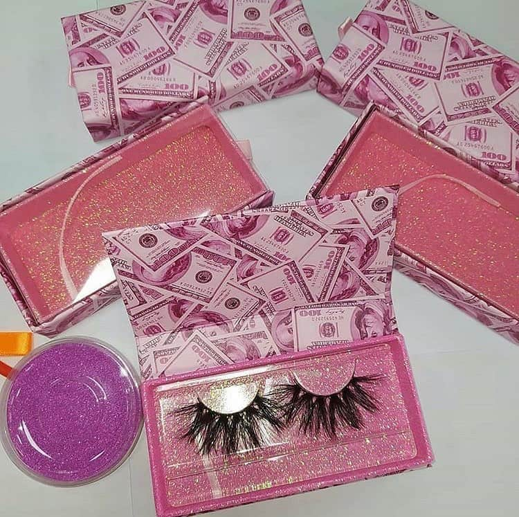 Pink Money Boxes for strip lashes