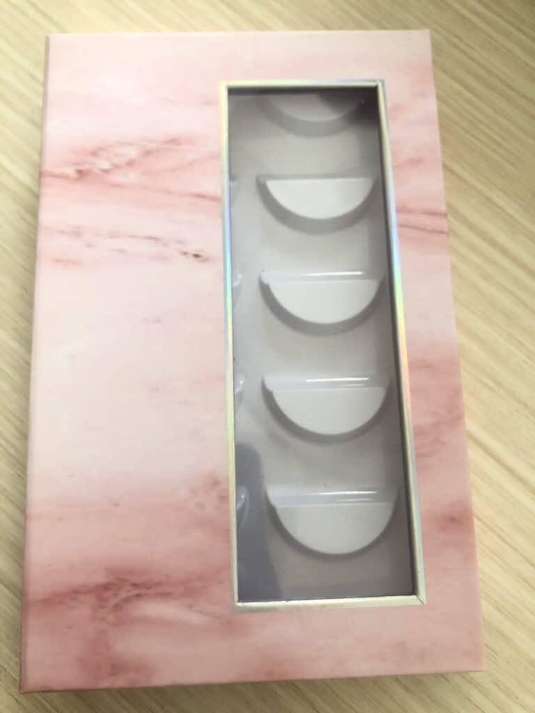 Pink Marble Eyelash Book