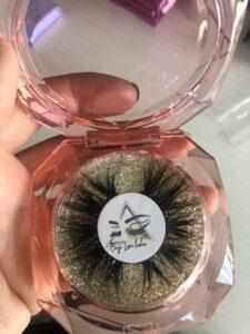 shiny glitter background lash cases