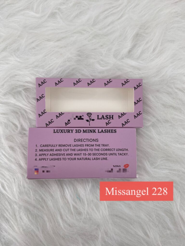 wholesale mink strip lashes and eyelash packaging boxes